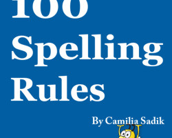 100 قاعدة للتهجي في كتاب